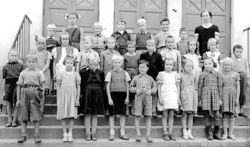 Harjulan koulun 3 A lk syksy 1950