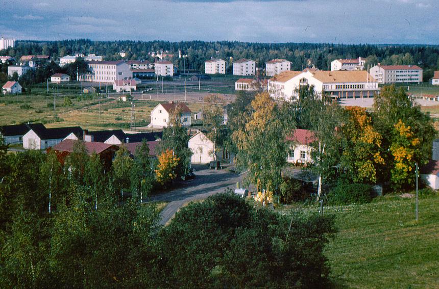 Näkymä Maatalousnormaalikoulun katolta Invalle päin